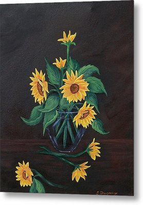 Metal Print featuring the painting Sun Flowers  by Sharon Duguay