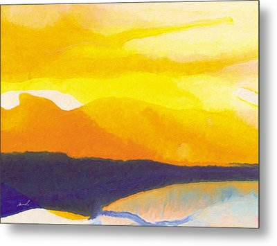 Metal Print featuring the painting Sun Glazed by The Art of Marsha Charlebois