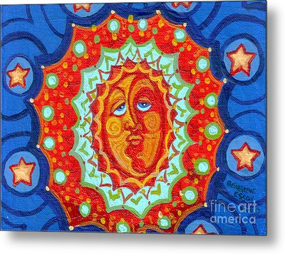 Sun God Metal Print by Genevieve Esson