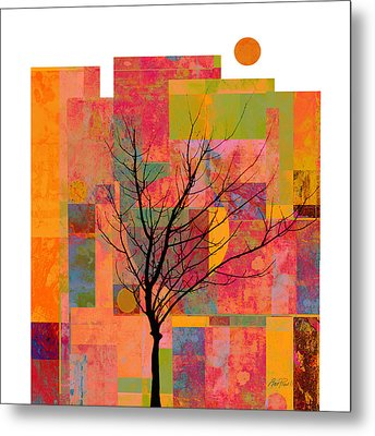 Sun In The City - Abstract - Art  Metal Print by Ann Powell