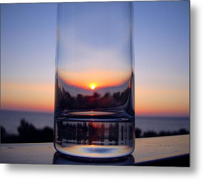 Sun In The Glass Metal Print
