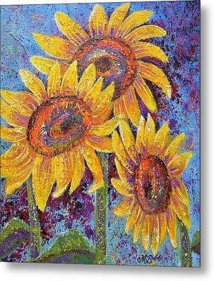 Sun-kissed Beauties Metal Print by Margaret Bobb