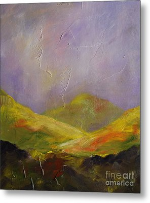 Sun Kissed Connemara Metal Print