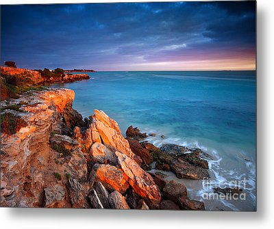 Metal Print featuring the photograph Sun Lights And The Rocks by Boon Mee