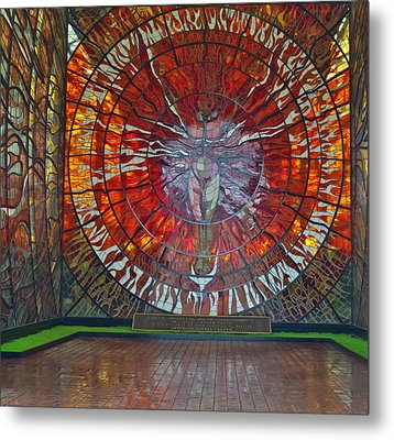 Sun Man In Botanical Garden In Toluca Mexico Metal Print
