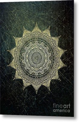 Sun Mandala - Background Variation Metal Print
