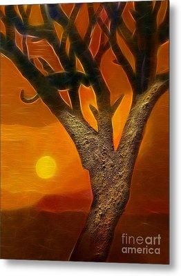 Sun Of Africa Metal Print by Lutz Baar