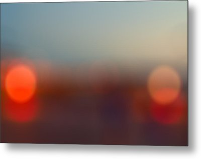 Sun On Horizon Metal Print by J Riley Johnson