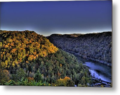 Sun On The Hills Metal Print
