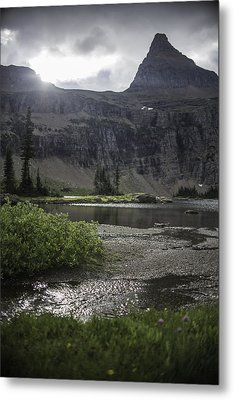 Sun Peeking Through Metal Print