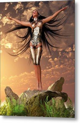 Sun Priestess 2 Metal Print