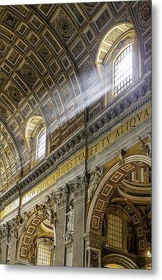 Sun Rays In St. Peter's Basilica Metal Print