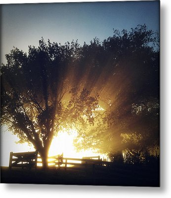 Sun Rays Metal Print by Les Cunliffe