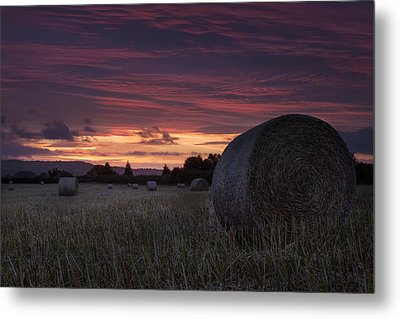 Metal Print featuring the photograph Sunrise Over The Harvest by Stewart Scott