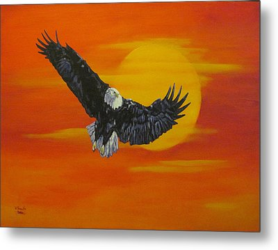 Metal Print featuring the painting Sun Riser by Wendy Shoults
