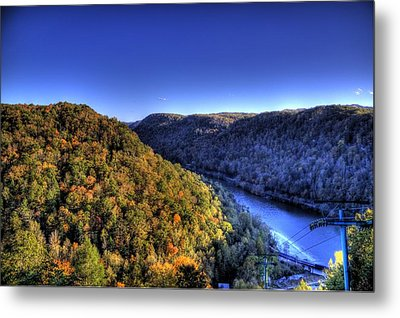 Sun Setting On Fall Hills Metal Print