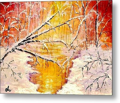 Metal Print featuring the painting Sun Shy... by Cristina Mihailescu