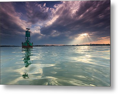 Metal Print featuring the photograph Sun Spill Over Annapolis by Jennifer Casey