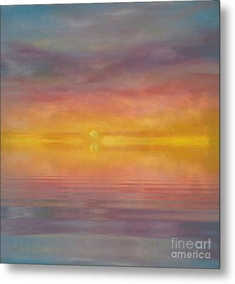 Metal Print featuring the painting Sun Tapestry by Holly Martinson