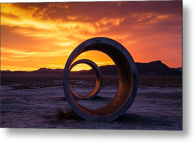 Sun Tunnels Metal Print by Peter Irwindale