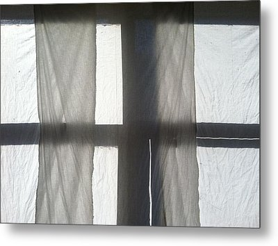 Sun Up Through Luke's Curtains Metal Print