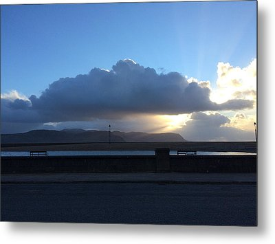 Sunbeams Over Conwy Metal Print by Christopher Rowlands