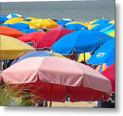 Sunbrellas Metal Print by Kim Bemis