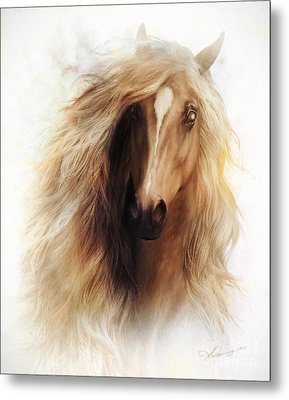 Sundance Horse Portrait Metal Print by Shanina Conway