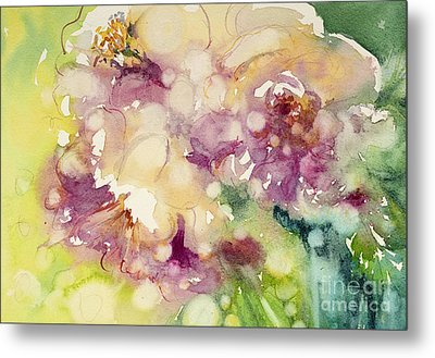 Sundappled Rose Metal Print by Judith Levins