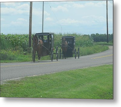 Metal Print featuring the photograph Sunday Afternoon Ride by Tina M Wenger