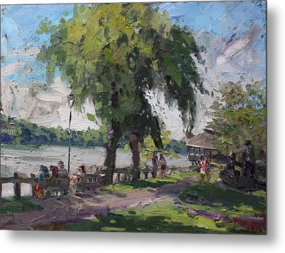 Sunday At Lewiston Waterfront Park Metal Print by Ylli Haruni