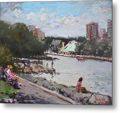Sunday At Port Credit Park Mississauga Metal Print by Ylli Haruni