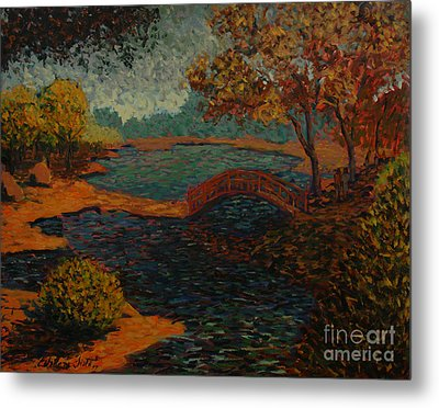 Sunday At The Park II Metal Print by Monica Caballero