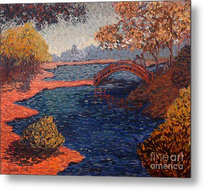 Sunday At The Park Metal Print by Monica Caballero