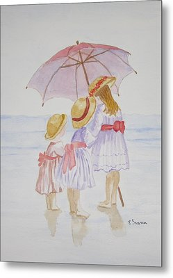 Sunday Best At The Beach Metal Print
