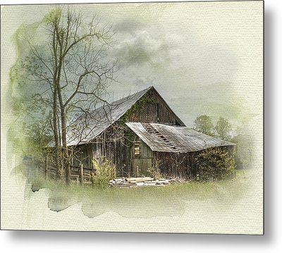 Sunday Drive Barn Metal Print by Kathleen Holley