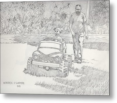 Sunday Drive Metal Print