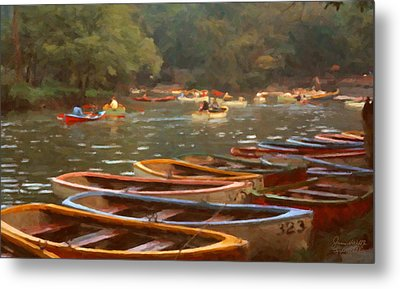 Sunday In Chapultepec Park Metal Print by Spyder Webb