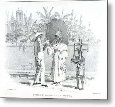 Sunday In Town Metal Print by British Library