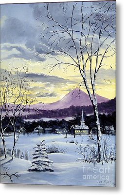 Sunday In Winter Metal Print by Lee Piper