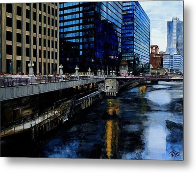 Sunday Morning In January- Chicago Metal Print