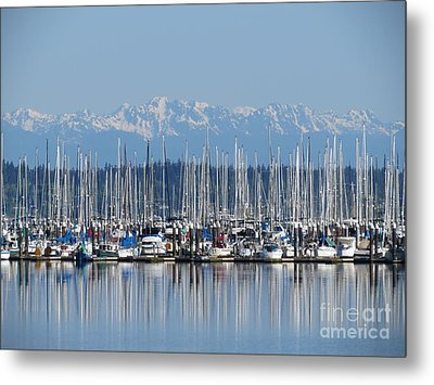 Sunday Morning Masts Metal Print by Gayle Swigart