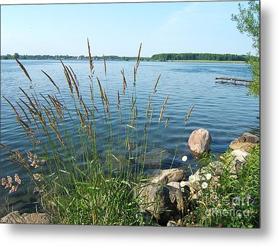 Sunday Morning River Walk Metal Print by Margaret McDermott