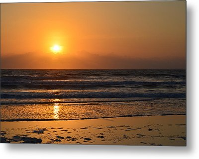 Metal Print featuring the photograph Sundays Golden Sunrise by DigiArt Diaries by Vicky B Fuller