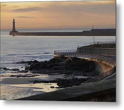 Sunderland Sunrise Metal Print by Julia Wilcox
