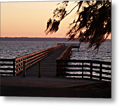 Sundown At Shands Dock Metal Print