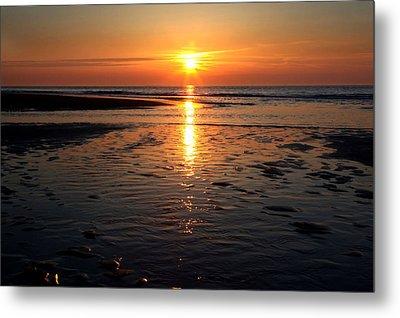 Sundown At The North Sea Metal Print