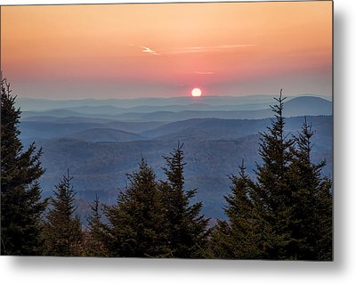 Metal Print featuring the photograph Sundown From Spruce Knob by Jaki Miller
