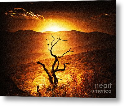 Sundown In The Mountains Metal Print