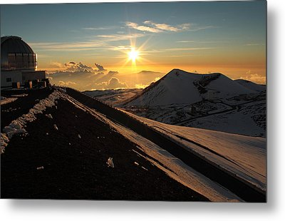Metal Print featuring the photograph Sundown On Mauna Kea by Scott Rackers